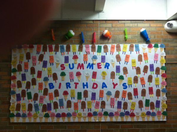 Ice Cream Birthday Bulletin Board Ideas