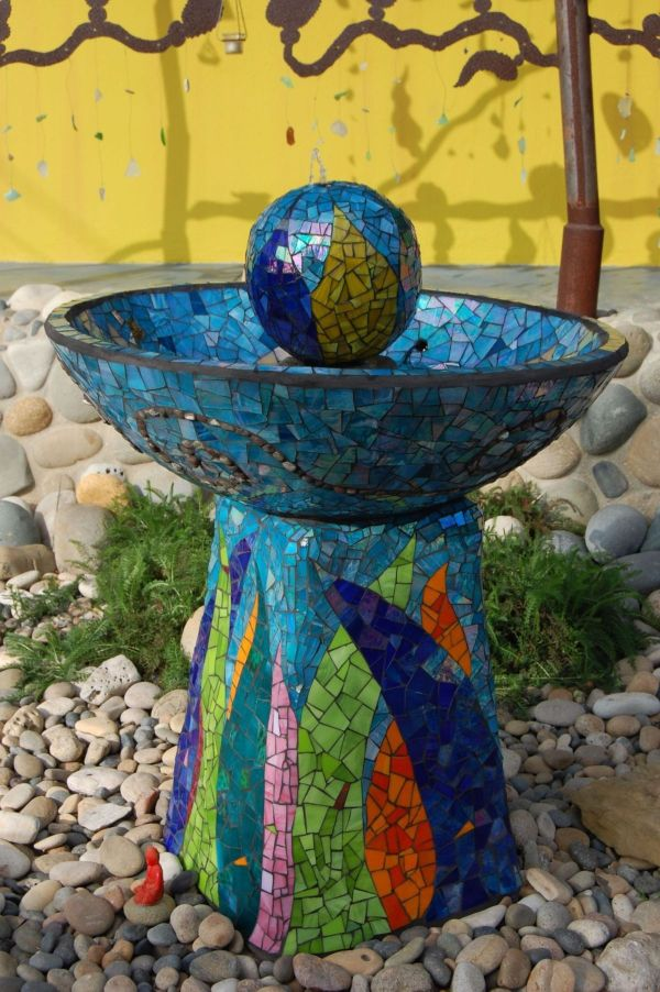 Mosaic Garden Water Fountain.water In Garden