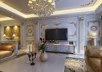 European style luxury living room interior design with ...