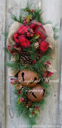 Christmas Wreath Christmas Swag, Holiday Door Wreath ...