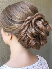 beautiful updo wedding hairstyle