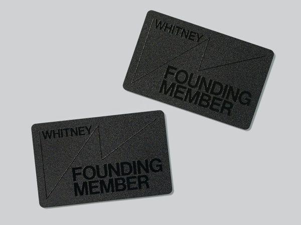 Whitney Museum of Art Membership Cards