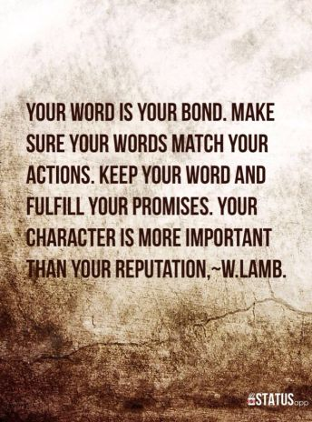 the importance of keeping your word