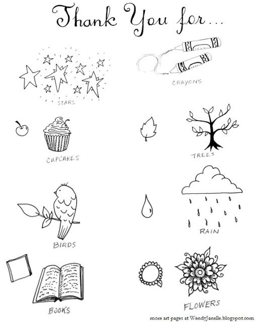 Living Creatively: Give Thanks- coloring page for kids