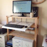 Standing desk IKEA hack  Linnmon desk & IVAR shelf | Ikea ...
