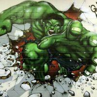 Finished Incredible Hulk Graffiti Art by Graffiti Kings ...
