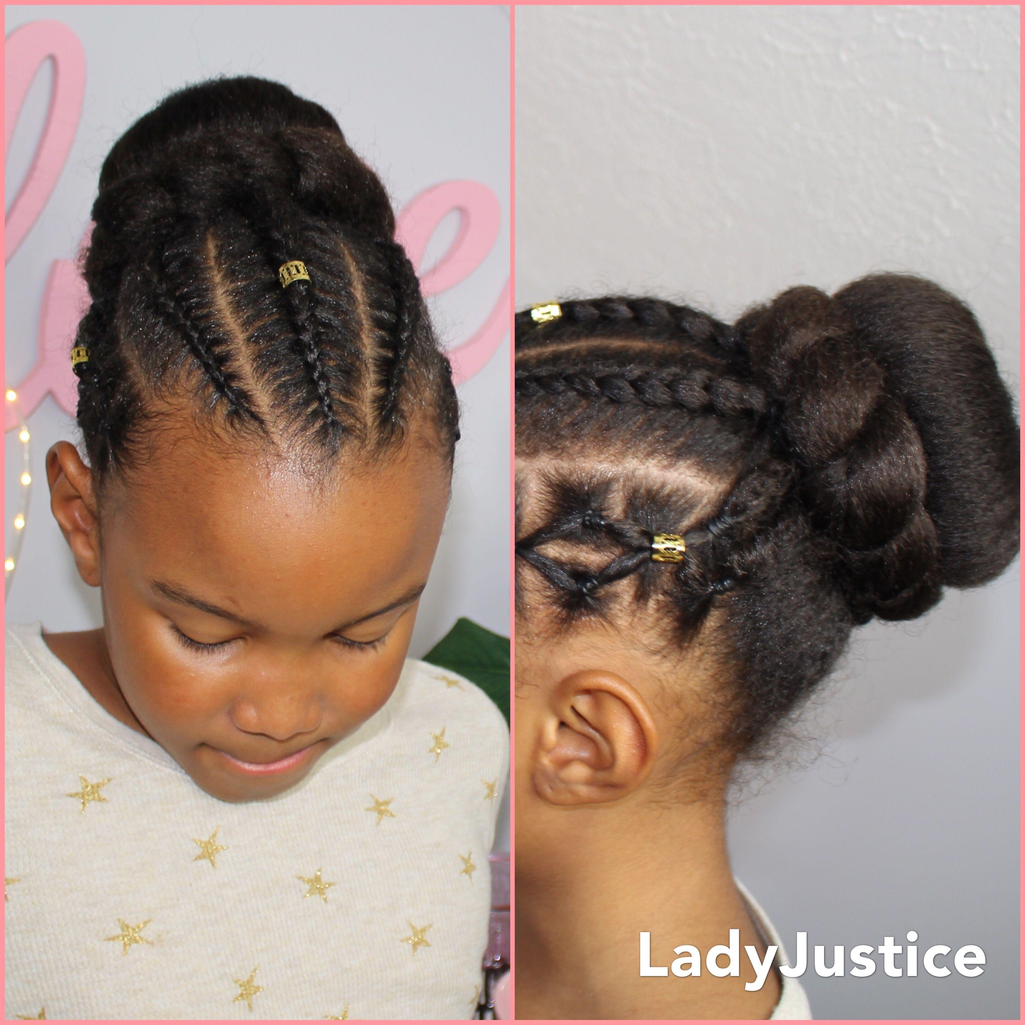 Bun and braids Full tutorial is linked Hairstyles ♥
