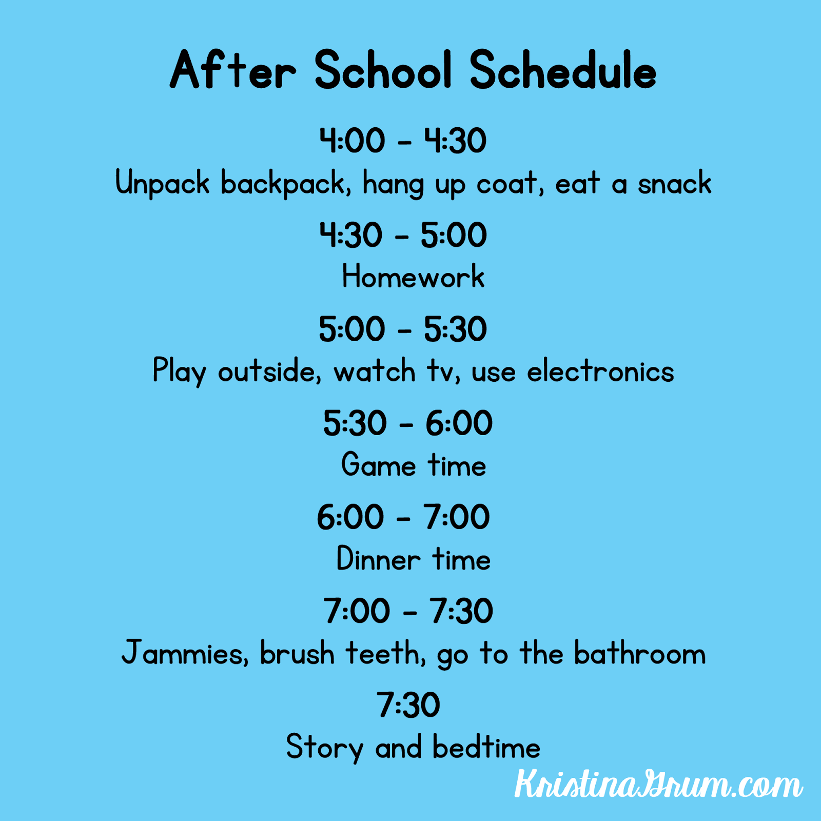 An After School Schedule Can Help To Improve Behavior At