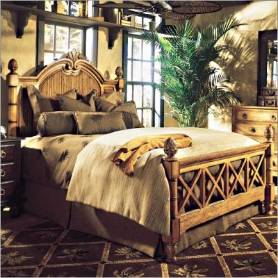 This collection of bedroom furniture style tropical, and