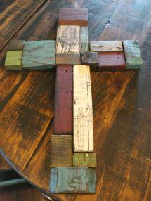 Cross Pallet Board Scraps. Original Idea
