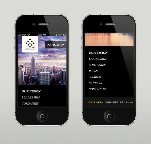 Ipg mediabrands homepage on app design served also pinterest rh