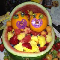 Twin baby shower fruit platter   for my girls   Pinterest ...