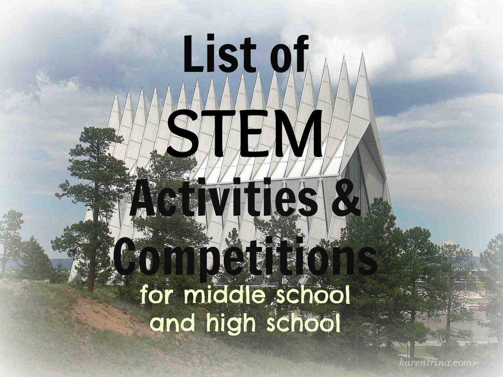 Homeschool High School Stem Activities