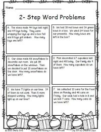 2-step word problems--FREE--Christmas math for 2nd grade ...