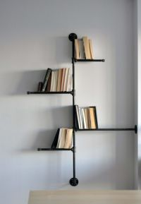 Stunning Cool Shelf Designs : Contemporary Corner Black ...
