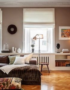 Pleasant and relaxing swedish style apartment interior design colored in cappuccino with dark brown white accents also inside pinterest wall colors apartments rh