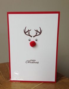 Diy your christmas ts this year with sterling silver photo charms from glamulet super speedy rudolph card made stampin  up supplies by amanda also idee pour une carte de noel cartes pinterest cards and rh