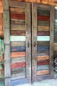 Awesome Creations with Used Wooden Pallets | Pallet door ...