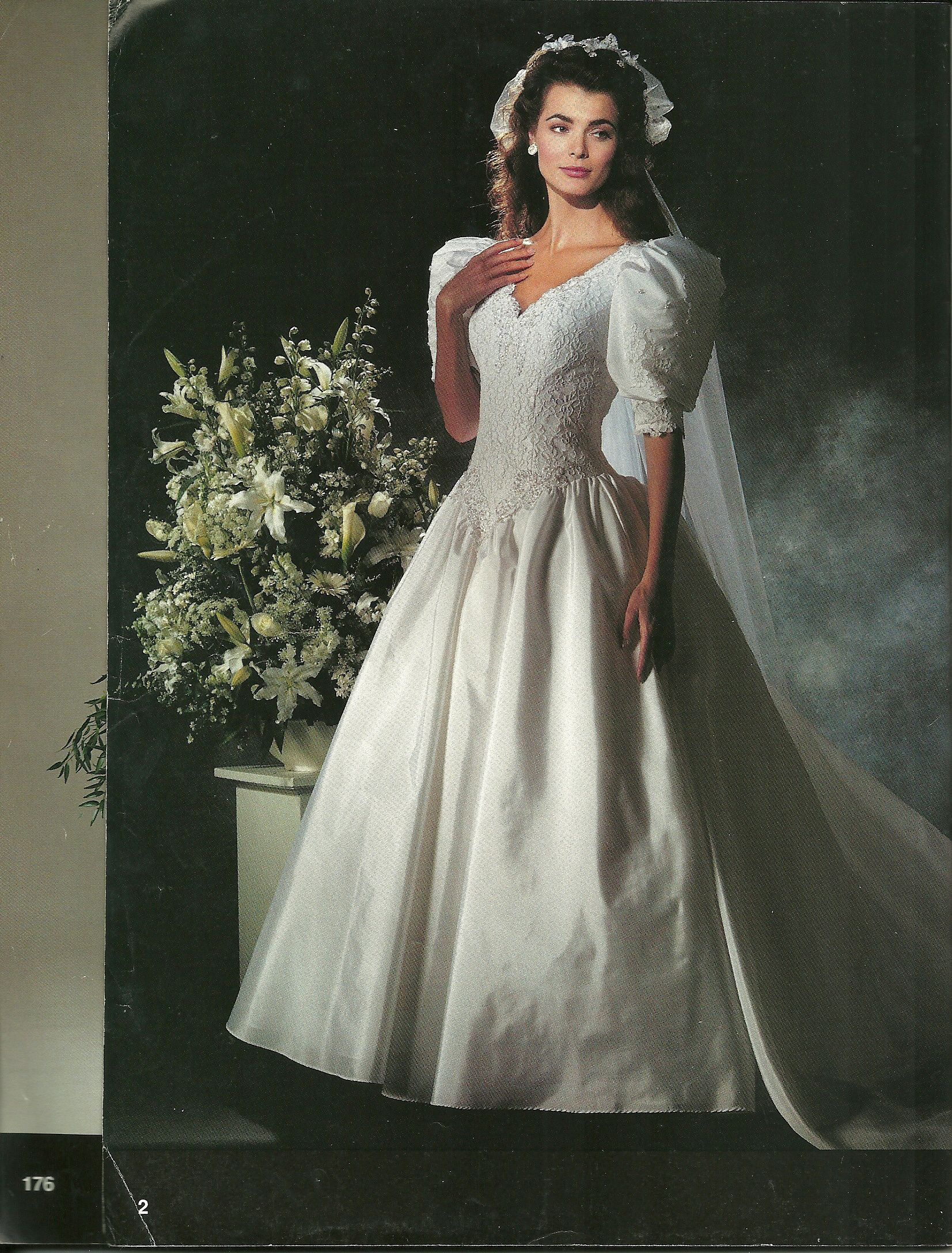 Such a classic How many of you recognise this 90s wedding dress
