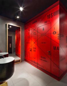 Architecture unique bathroom design with creative decor in modern interior style house also rh za pinterest