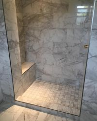 Custom shower with bench and tileable(hidden) Kerdi-linear ...