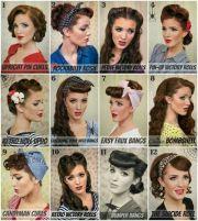 vintage pin hairstyle