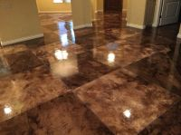 Acid Stain, Tile Pattern Concrete Floors Owens Concrete