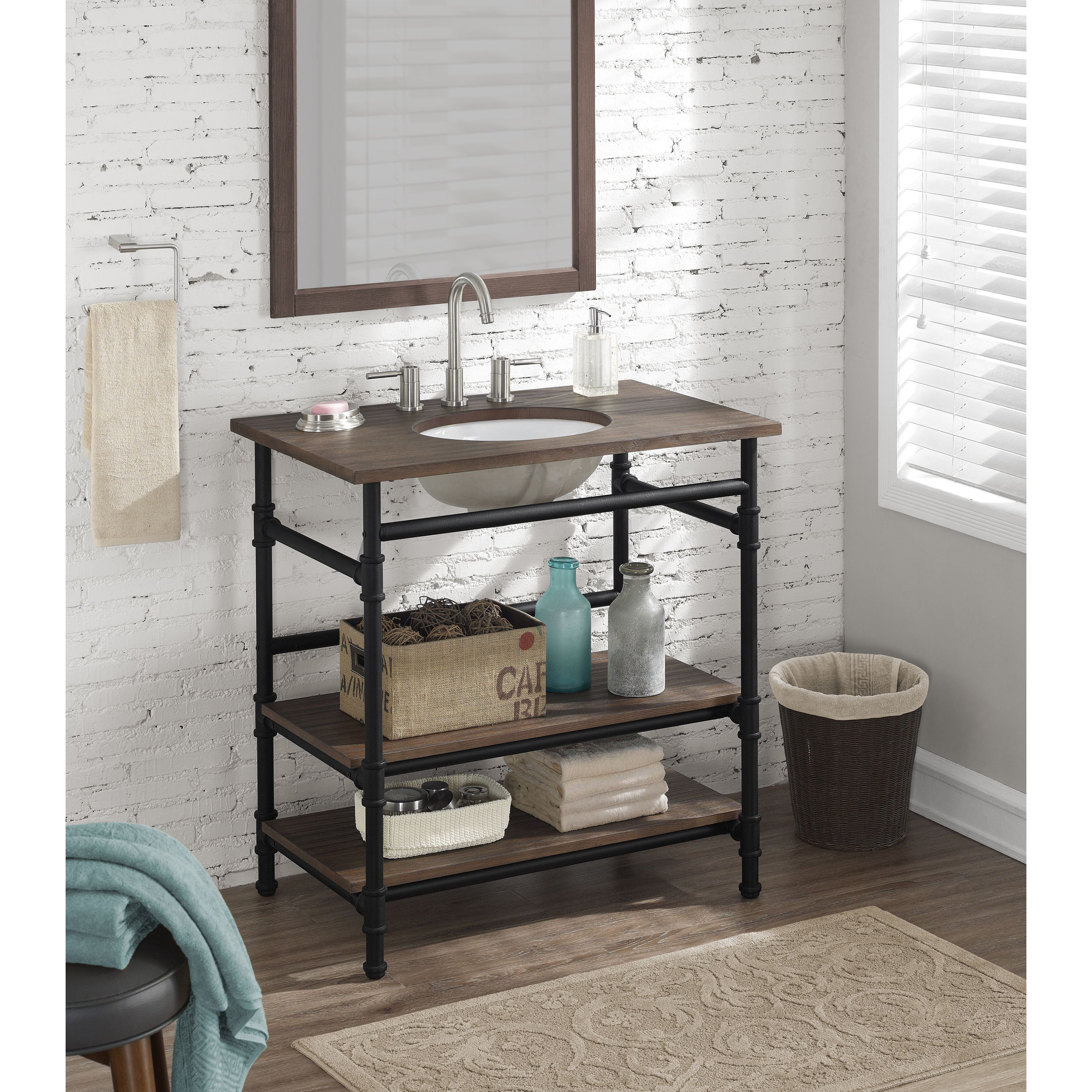 Rustic yet refined this bathroom vanity will add an
