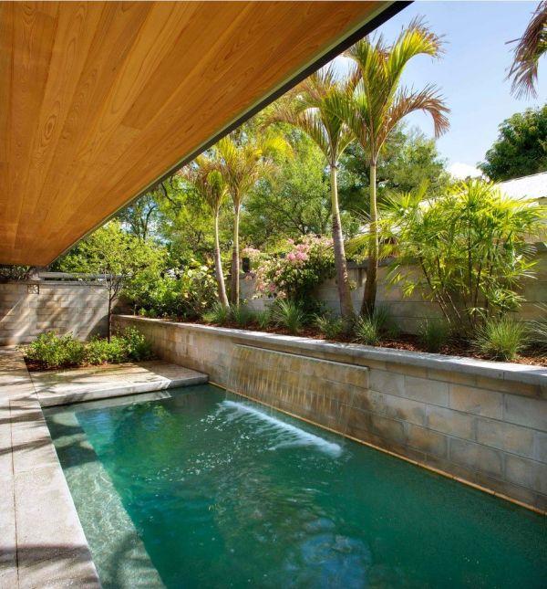 mid century modern loveseat pool