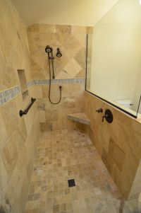 Beautiful Bathroom Design Ideas Using Doorless Shower ...