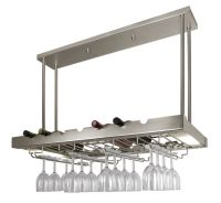 Lighted Hanging Wine Rack with Glass Storage | Cool Wine ...