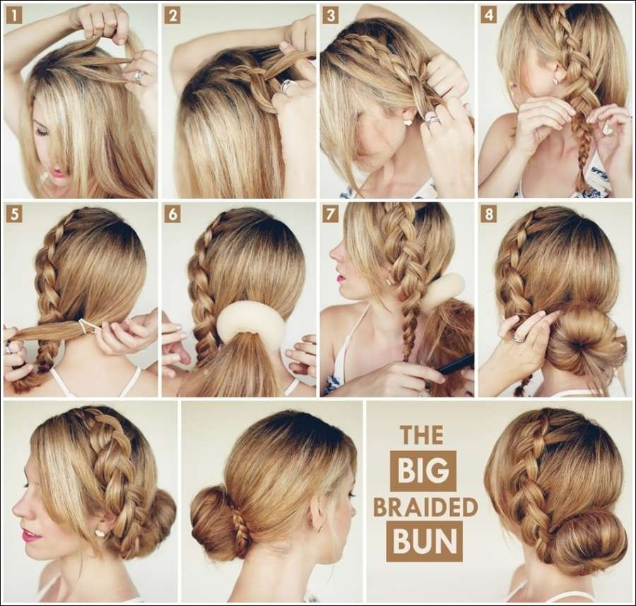 60 Simple DIY Hairstyles For Busy Mornings Braided Buns