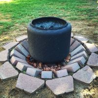 DIY fire pit with washer drum | My Style | Pinterest | Diy ...