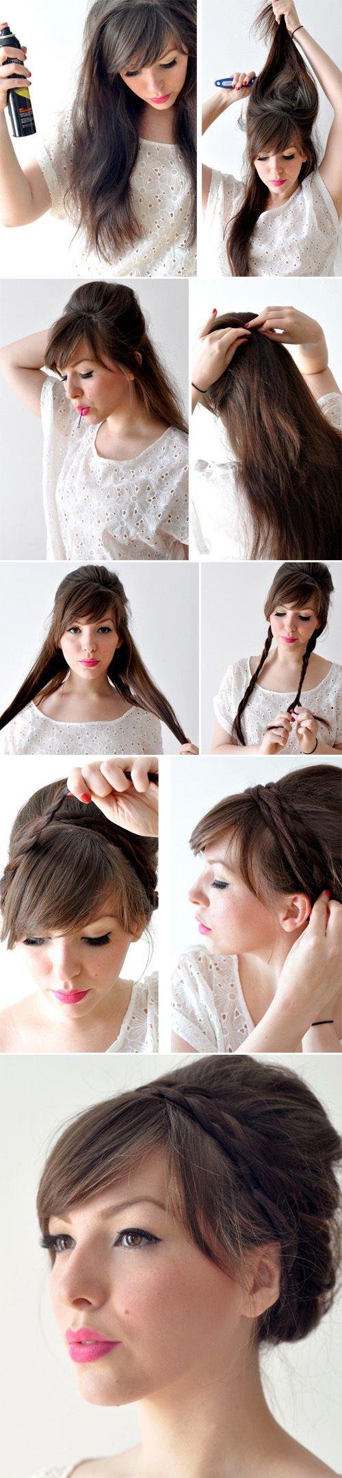 Die Besten Zopf Tutorials Auf Pinterest Anleitungen Haar Und