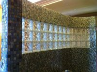 Glass block and tile showers in Houston Texas, Doorless ...