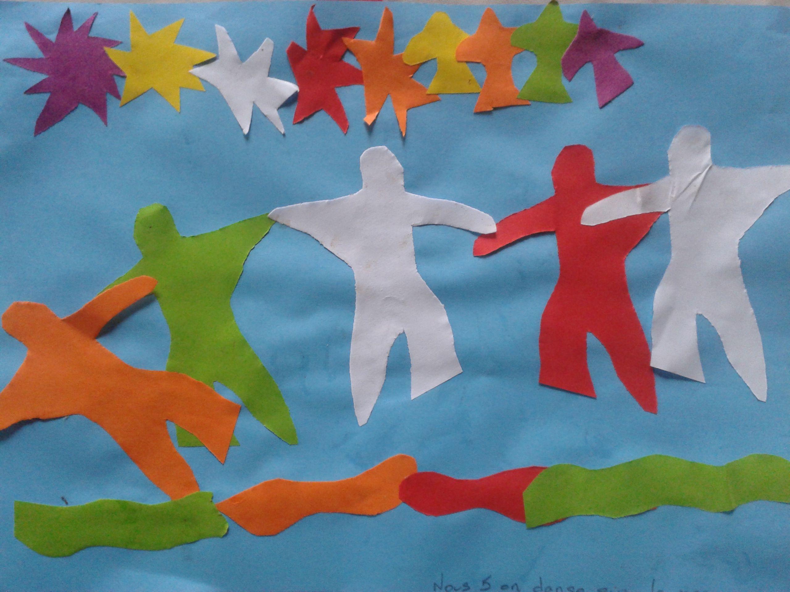 Activite Arts Pour Enfants Collages Facon Matisse