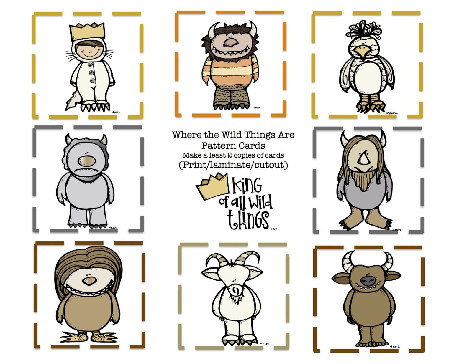 Where The Wild Things Are Pattern Cards Wild 9 Pattern Cards