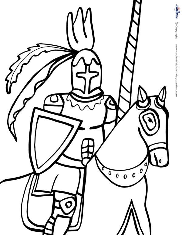 Printable Knight Coloring Page 3 Coolest Free Printables