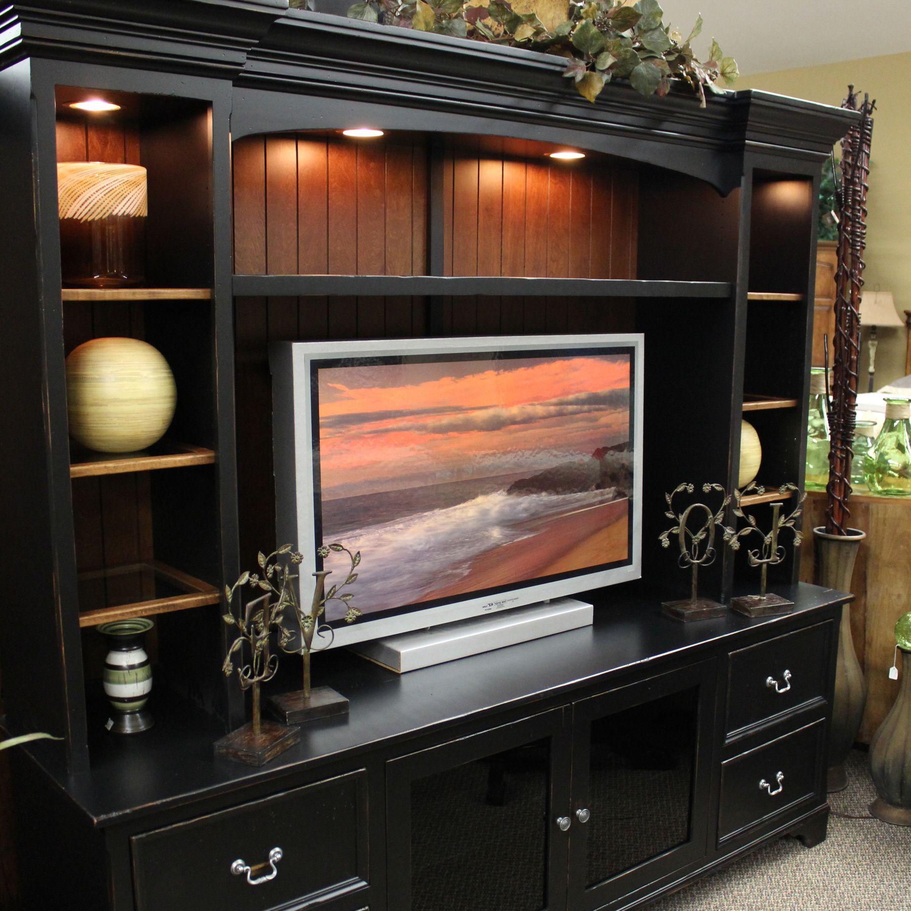Black Entertainment Center Living Room Furniture