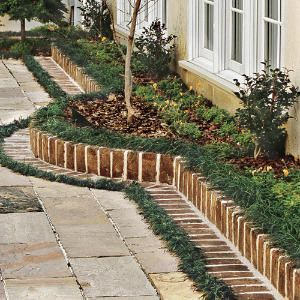 Design A Brick Border For A Garden Courtyard Gardens Garden
