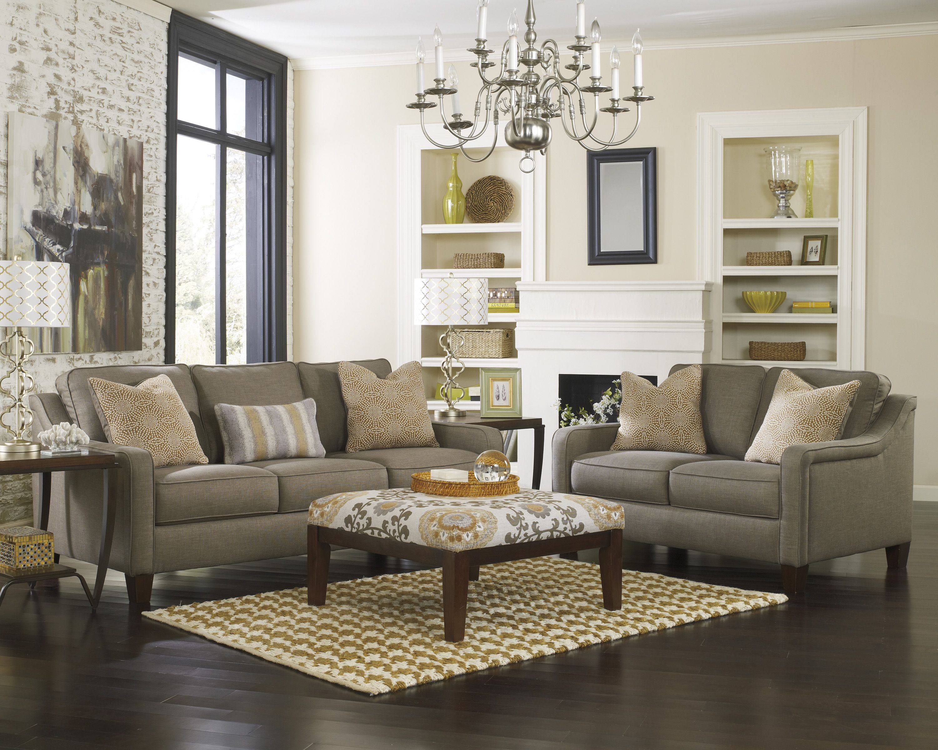 Ashley Furniture 89301 Mena Graphite  Sofas  Sectionals  Pinterest  Furniture