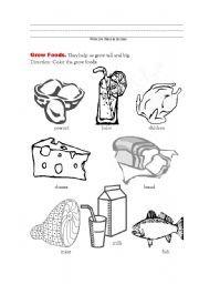 English worksheet: Good Food for Health 3 ( Grow Foods