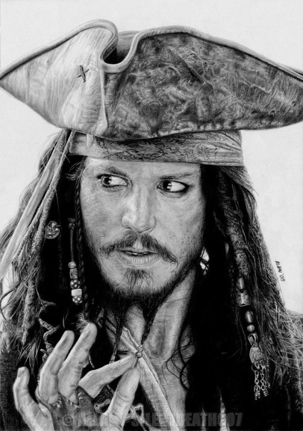 Captain Jack Sparrow Silentdeath007 Deviantart Portrait Drawing