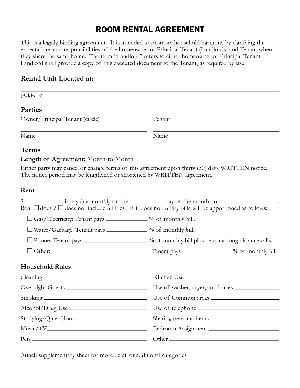 microsoft word lease agreement template – Microsoft Rental Agreement Template