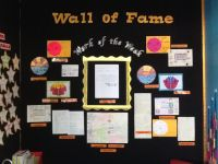 My Wall of Fame! Kids know that only the best goes up on ...