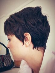 pixie haircut with feminine neck