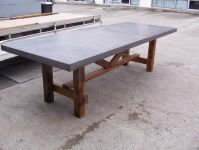 rustic patio table concrete top | STM Rectangular Miami ...