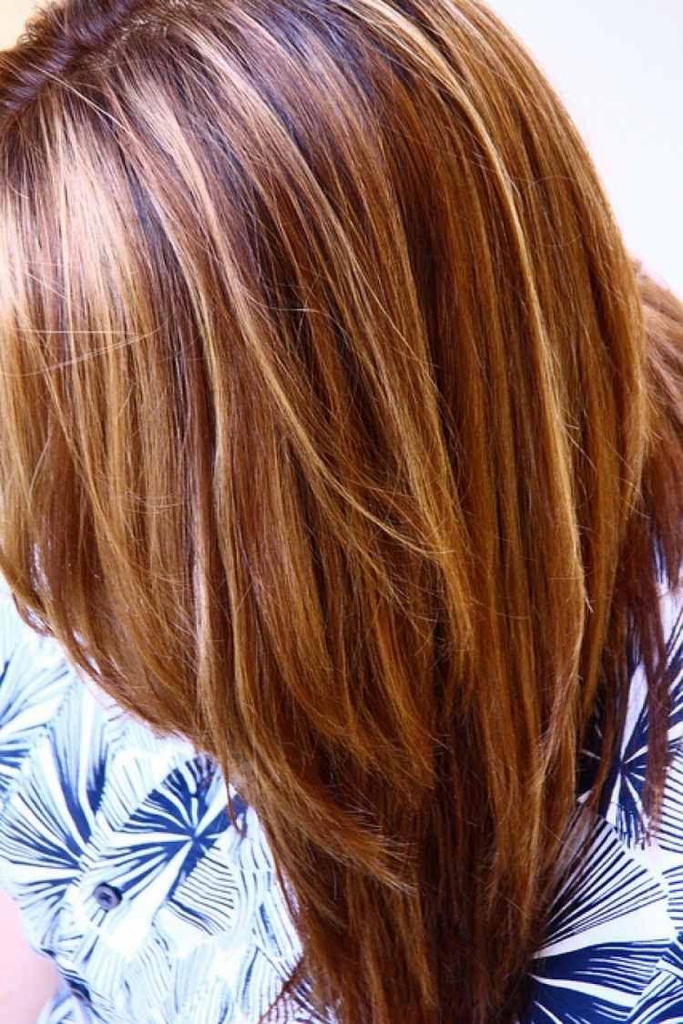 Caramel Haarfarbe Karamell Hell Braun Strähnchen Mehr Frisuren