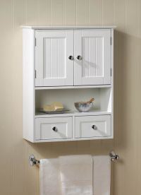 White 2 Drawer Hanging Bathroom Wall Medicine Cabinet ...