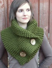 chunky button cowl shawl neck warmer cilantro the by ...